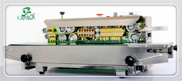 LX-PACK Lowest Factory Price horizontal type semi automatic plastic bag sealing machine plastic bagsealer continuous band sealer