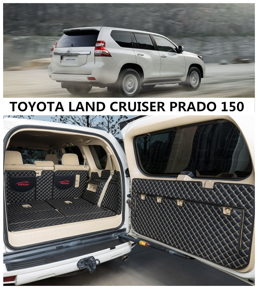For TOYOTA LAND CRUISER PRADO 150 2010-2019 Full Rear Trunk Tray Liner Cargo Mat Floor Protector foot pad mats Toyota Land Cruiser