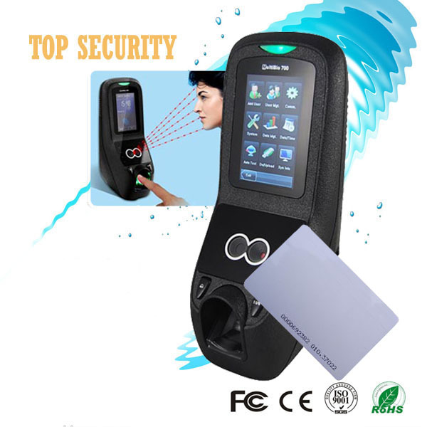 Multibio700 face access control door controller with fingerprint and RFID card reader 1500 face capacity 3inch touch screen