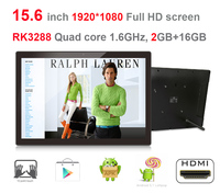 15 6 Android All In One Pc KIOSK Advertising Machine RK3288 2GB DDR3 16GB Nand Widescreen1920
