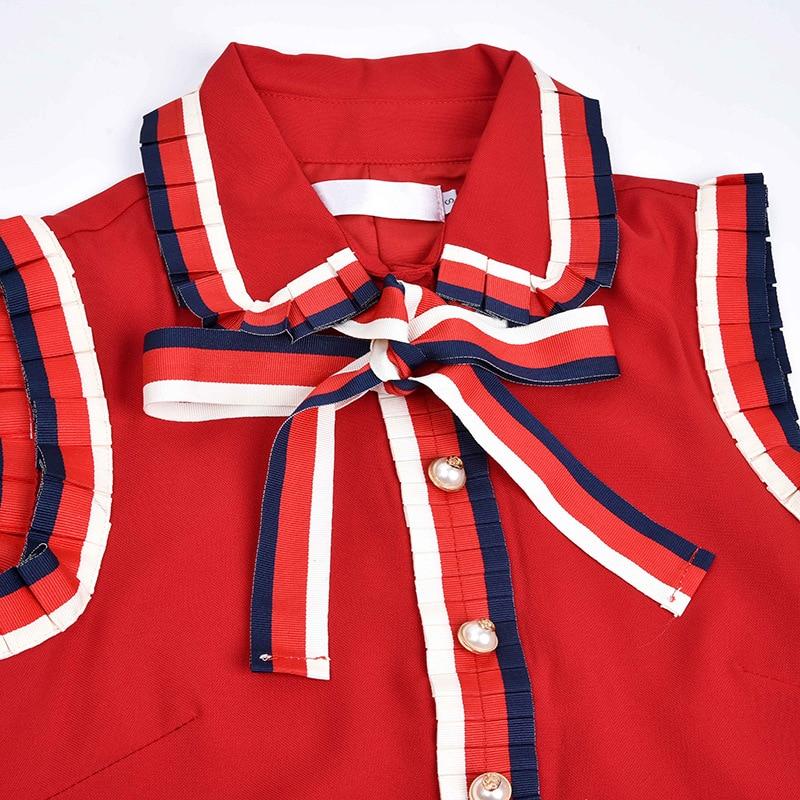 Nouveau Robe Oreilles Printemps Revers Avec Attaché Bois Arc Étoiles Et Européen En Sans Manches Été Style ZZnxFrqSw