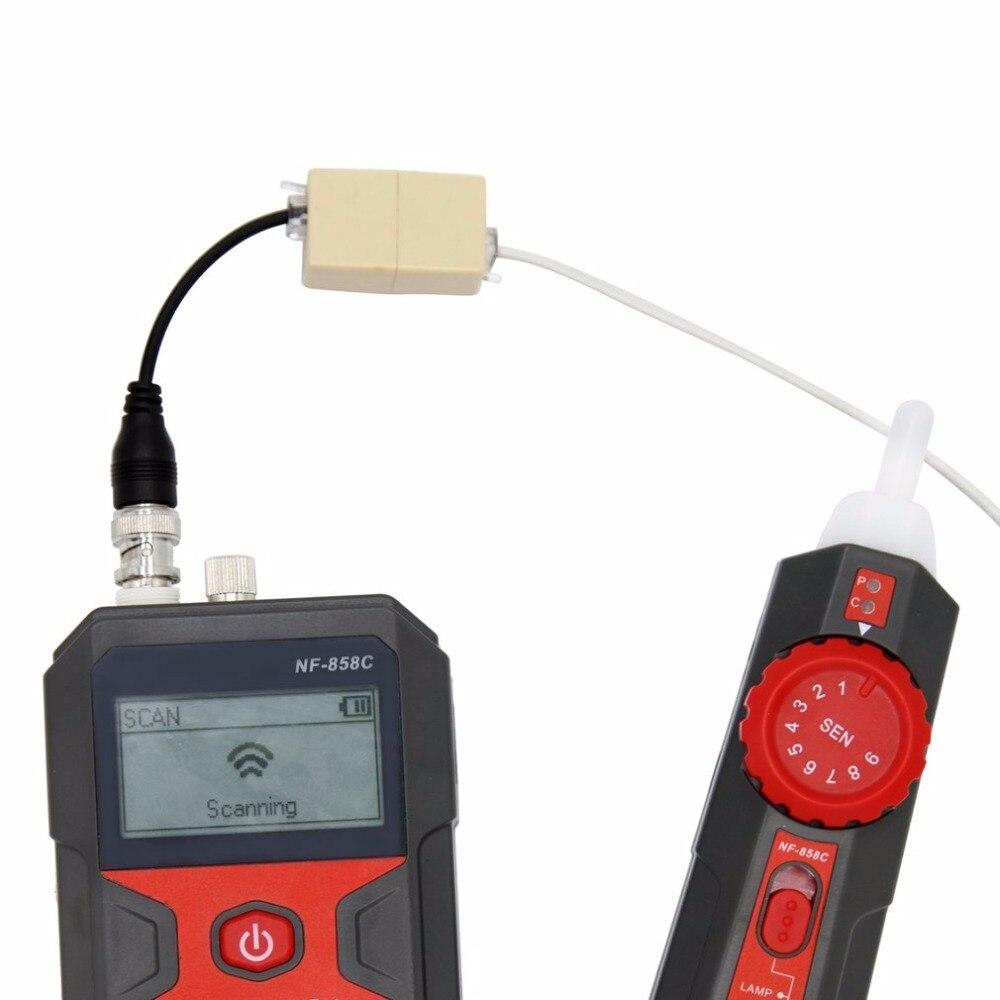 Localisateur de ligne de câble de NF-858 détecteur de câble de traqueur de fil portatif pour l'essai de câble de réseau ligne de câble de RJ11 RJ45 BNC - 5