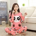 Modal e dos desenhos animados doce princesa longo-luva plus size solto salão feminino pijamas pijamas set 2017 primavera novo estilo moda