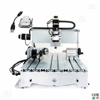 4 axis 6040Z 300w spindle cnc engraving machine with USB adapter card to Russia no tax