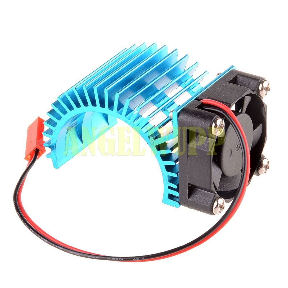 RC Car Aluminum Heat Sink <font><b>540</b></font> 550 Stock Modified <font><b>Motors</b></font> Cooling <font><b>Fan</b></font> 7014 Blue image