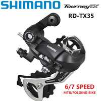 Dérailleur arrière SHIMANO Tourney TX TX35 vélo 6/7 vitesse roue libre manette de vitesse 18/21 vitesse VTT dérailleur de vélo pliant