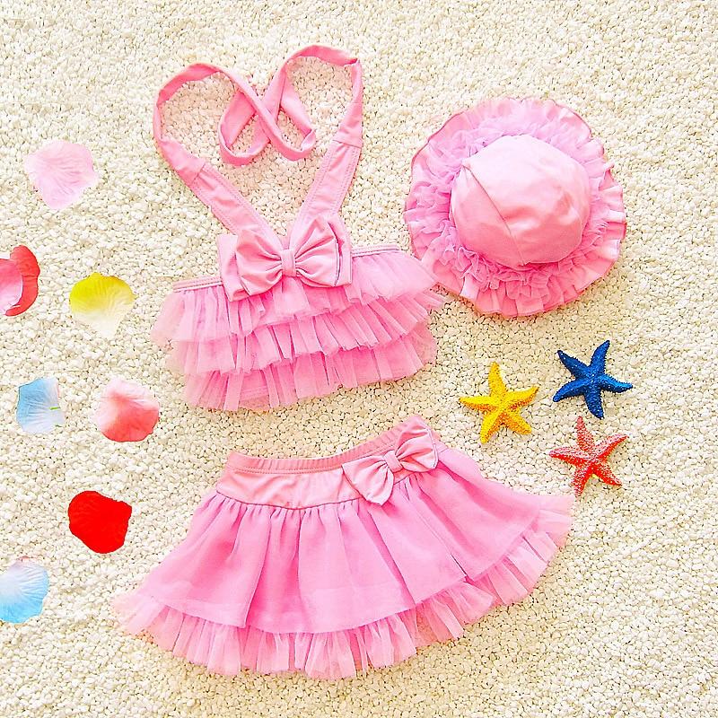 2018 New Pop Kids swimsuit children swimwear kids summer two Pieces Skirted swimsuit girl bikini beach wear swimsuit 1-6 years