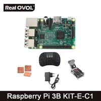 Raspberry Pi 3 Model B 2 4G Keyboard Clear Case With Fan Power Heat Sinks Raspberry
