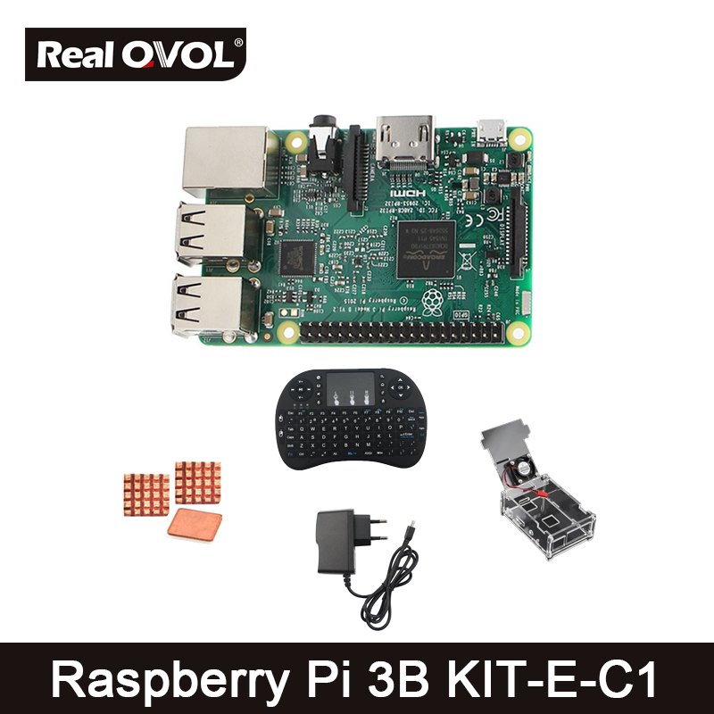 Raspberry Pi 3 Model B(1.2GHz,1GB RAM)+2.4G Keyboard+Clear case with Fan + Power+Heat sinks=Raspberry Pi 3 model B KIT-E-C ram mounting systems ram mount 3 68 round base w 3 38 e size ball product category ram mount store e size