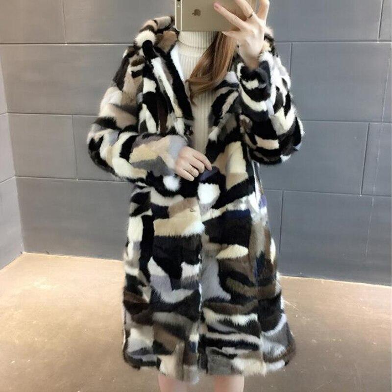 Long De Naturel Plus Vison Gros Outwear Fourrure Discount Bas Wsr425 Manteau D'usine Au Détail À Hoodies En Taille Réel Sortie OkZiPXuT