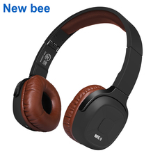 New Bee Upgraded Wireless Bluetooth Headphones Hifi Sport Headset with Case Pedometer App Mic NFC Earphone