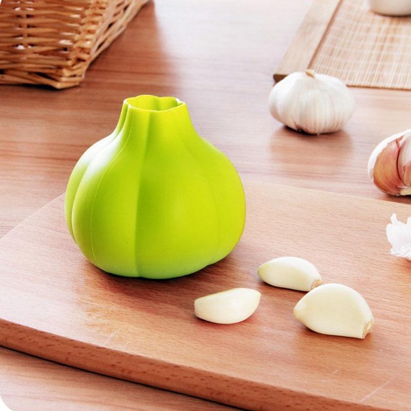 Éplucheur d'ail en caoutchouc créatif presse à ail outil de dénudage d'ail pelé Ultra doux accessoires de cuisine à domicile 1