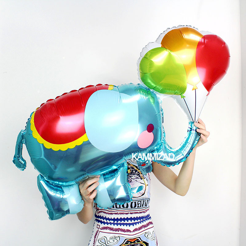 New 1 piece large Cartoon foil balloons Elephant helium ballon birthday decorations kids toy birthday party wedding baby shower