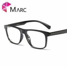 MARC Men Vintage TR90 Women Frame Eyeglass Plastic Fashion Clear lens Trend Glasses Unisex Classic Square G8001 1
