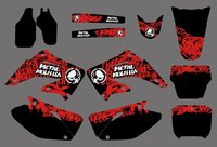 0160 New Style TEAM GRAPHICS BACKGROUNDS DECALS STICKERS Kits For CR125 CR250 2002 2003 2004 2005
