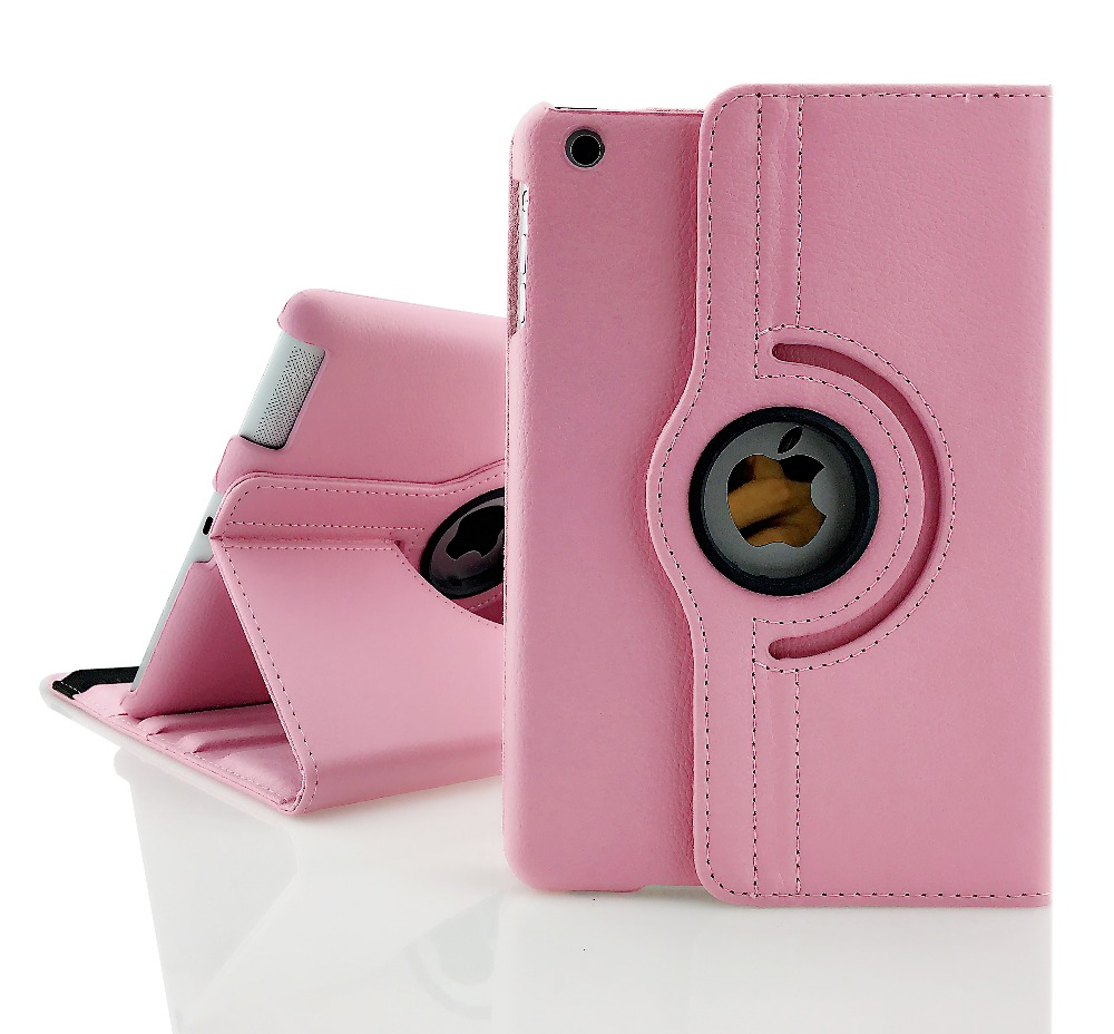 360 Pattern PU Leather Rotating Smart Stand Tablet Case For Ipad Mini 1/2/3