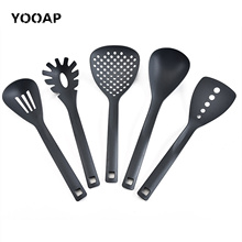 5-piece kitchen utensil set food grade. Non-stick silicone cooking tool. Silicone nylon material. Kitchen home security food security