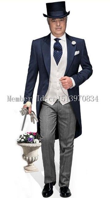 Aliexpress.com : Buy 2015 Morning Style Navy Blue Groom Tuxedos ...