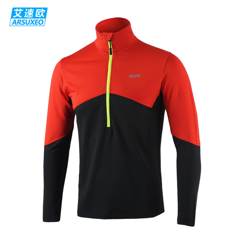 ARSUXEO Dry Fit Running Shirt Ανδρών Ποδηλασία Jersey - Ποδηλασία - Φωτογραφία 3