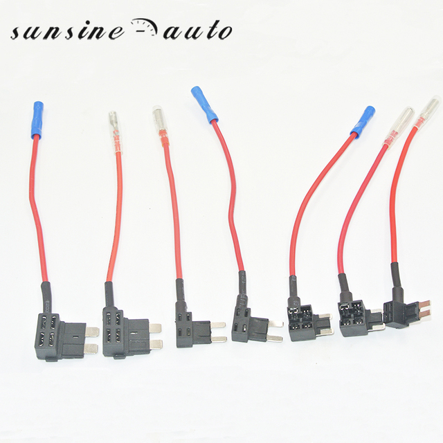 us $60 0 100pcs 12v car add a circuit fuse tap adapter standard blade micro2 micro mini atm apm blade fuse taps holder in cables, adapters \u0026 sockets  circuit fuse tap adapter mini atm apm