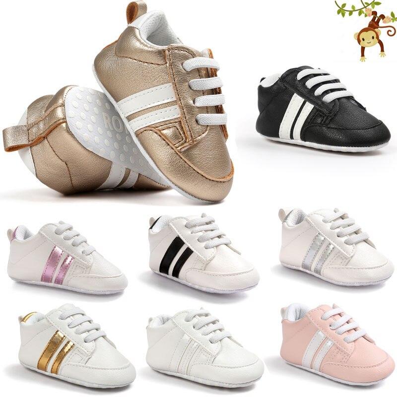 ROMIRUS Boys Baby Girls Miękkie podeszwie sneaker PU skórzane - Buty dziecięce - Zdjęcie 6