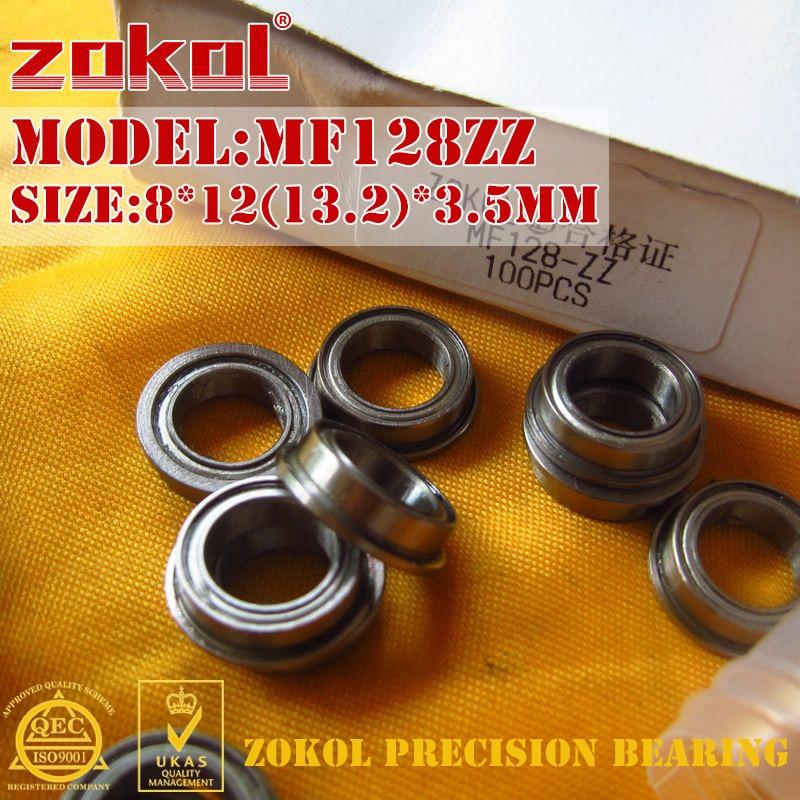 ZOKOL MF128 ZZ bearing MF128ZZ same as F678ZZ Flange bearing  F678 ZZ Deep Groove ball bearing 8*12(13.2)*3.5mm gcr15 6326 zz or 6326 2rs 130x280x58mm high precision deep groove ball bearings abec 1 p0