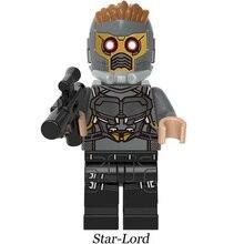 Super Heroes lEGOED Marvel Avengers Infinity War Iron Man Thanos Thor Black Panther Falcon Gamora Hulk Building Blocks toy(China)