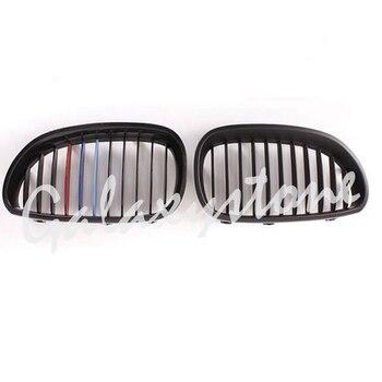 גלוס שחור M-צבע כליות מול גריל Fit עבור 2003-2010 BMW E60 E61 5 סדרת L & R צד