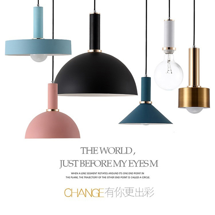 Nordic macarons Chandelier Modern Simple Restaurant Chandelier Personality Creative Cafe Bar Chandeliers Iron lamp led light E27