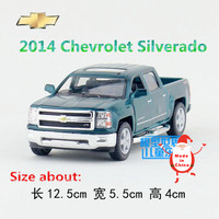 KINSMART Die Cast Metal Models 1 46 Scale 2014 Chevrolet Silverado Toys For Children S Gifts