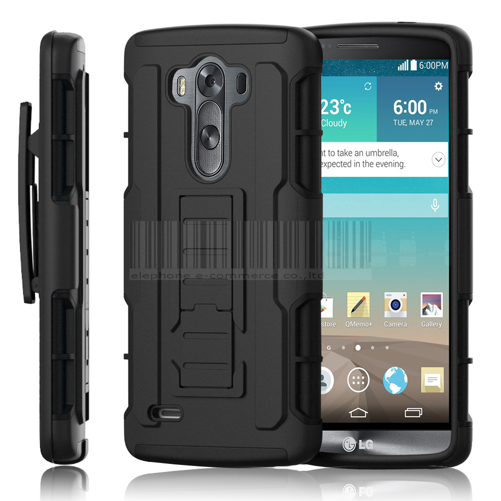 For LG G3 Case, Protective Armor Impact Hybrid Shockproof ...
