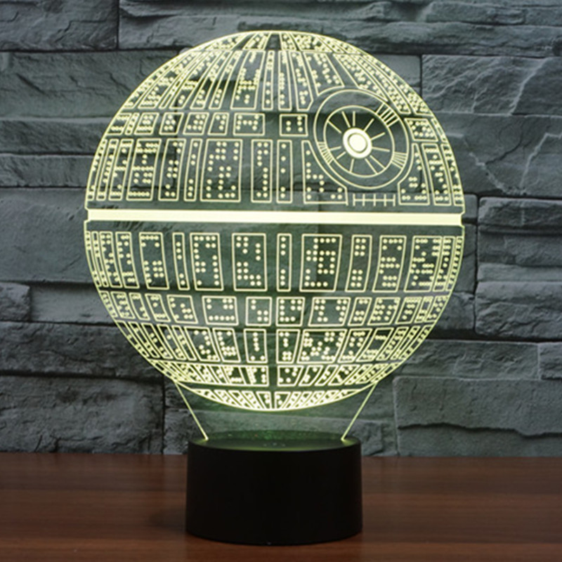 Novelty 3D Night Light Star Wars Death Star table Touch Lamp 7 Colors Changing LED Lamp Luminaria de Mesa Home Decor Gift white rotating rechargeable led talbe lamp usb micro charging eye protection night light dimmerable bedsides luminaria de mesa