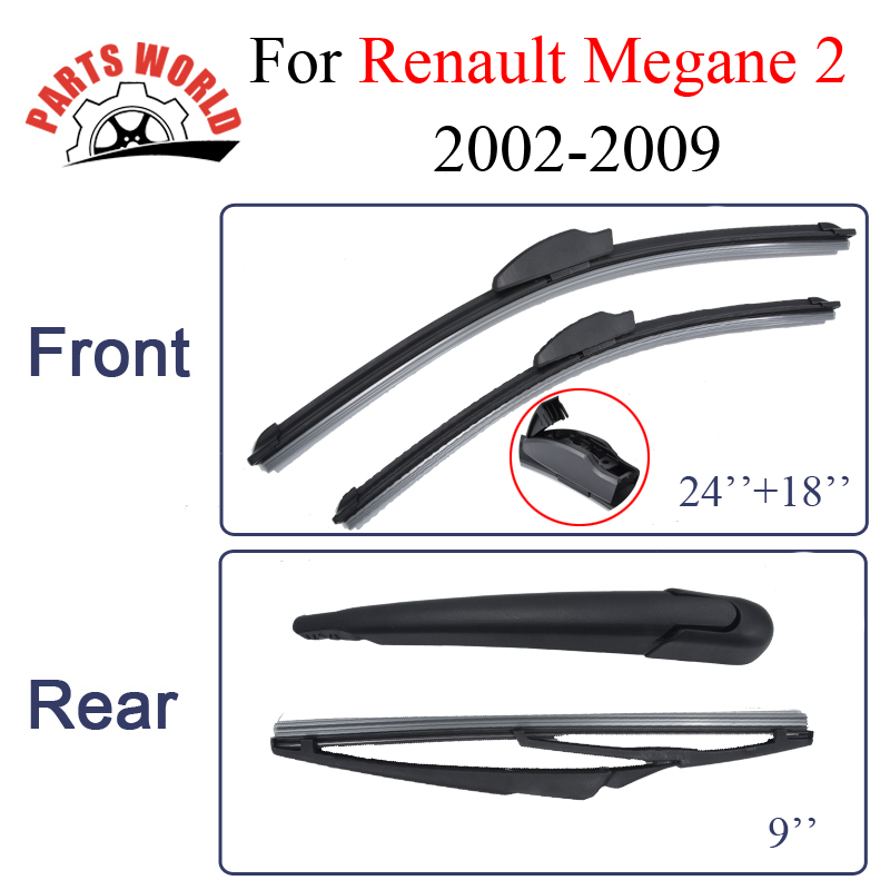 Partsworld Wiper Blade For Renault Megane 2 24'' 18'' 2002-2009 High Quality Car Accessories trico 30 180 wiper blade 18 pack of 1
