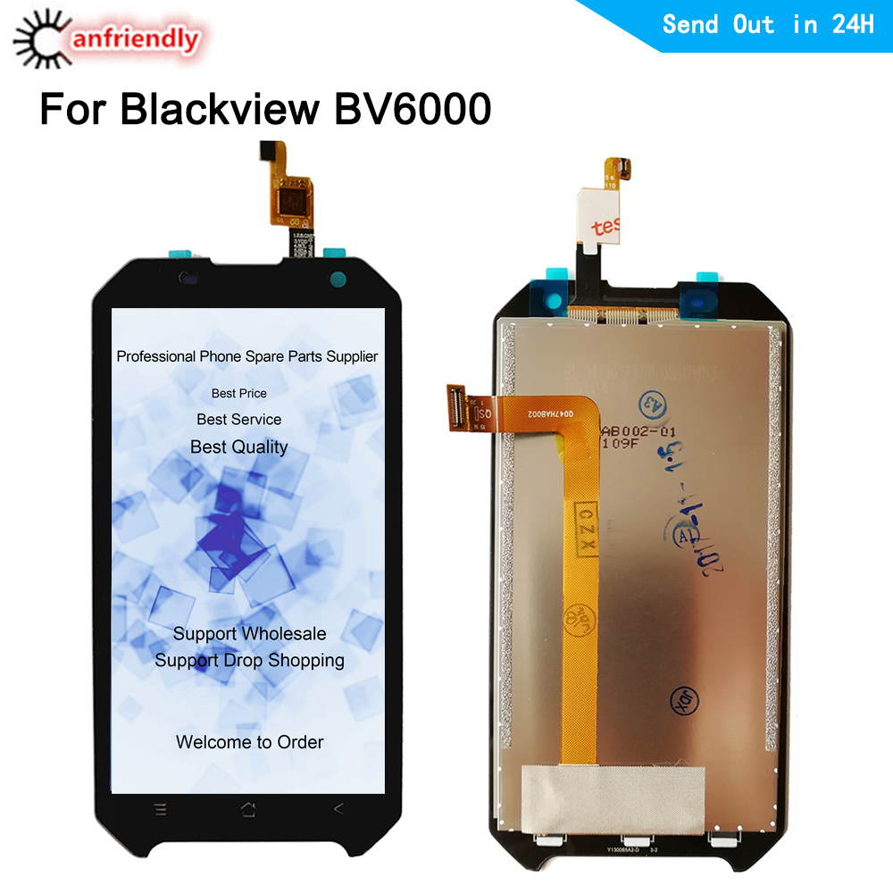 For Blackview <font><b>BV6000</b></font> <font><b>LCD</b></font> Display + Touch Screen Digitizer Assembly Replacement Part For Blackview BV 6000 Glass Panel lcds new image