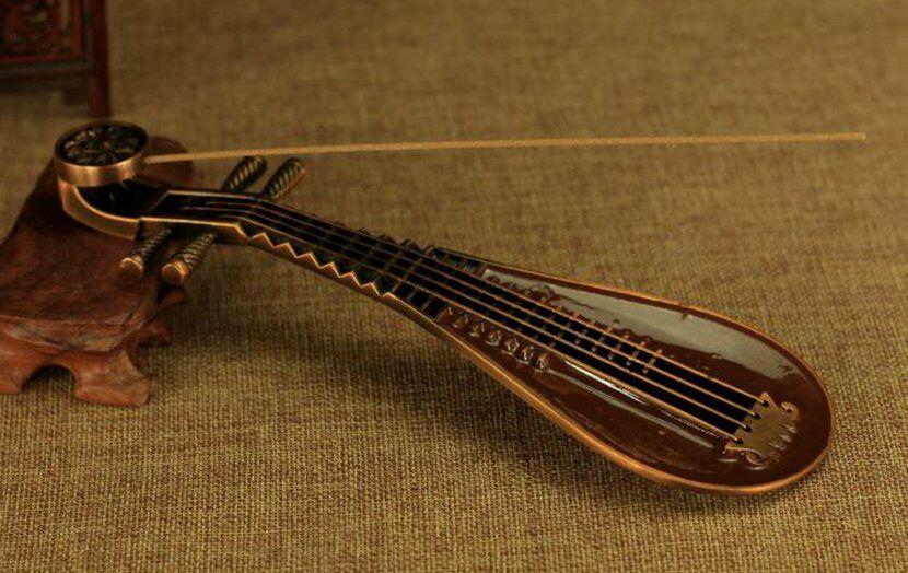 Bouddhisme tibétain travail manuel cuivre Lute Guqin ligne Kaoru encensoir brûleur d'encens