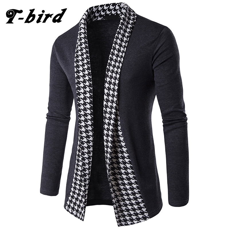 T-bird 2018 New Sweater Men Concise V-Neck Sweater Coat Cardigan Male Stripe Slim  Mens Cardigan Sweater Man Cardigan Men XXL