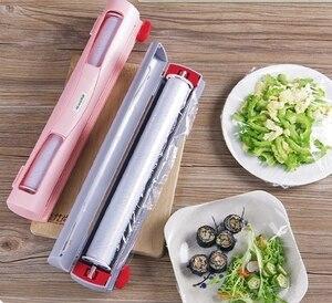السحر ABS جيدة مفيدة الفاكهة الغذاء حفظ الطازجة البلاستيك تتشبث التفاف موزع حافظة فيلم القاطع المطبخ أداة اكسسوارات