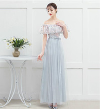 Blue Gray Colour Embroidery  Bridesmaid Dresses Wedding Dress Back of Bandage v neck red bean pink colour above knee mini dress satin dress women wedding party bridesmaid dress back of bandage