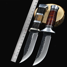PEGASI High Quality Tactical Fixed Blade 440 Stainless Steel Color Wood Handle Outdoor Hunting Knives Tool