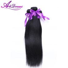 Unprocessed Peruvian Virgin Hair Weave,Straight Human Hair Extensions, Dyeable Black 100% Human Virgin Straight Peruvian Hair