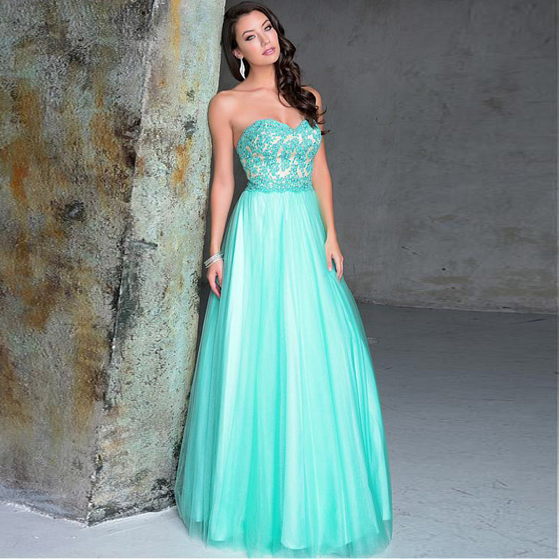 Popular Aqua Long Prom Dresses-Buy Cheap Aqua Long Prom Dresses ...