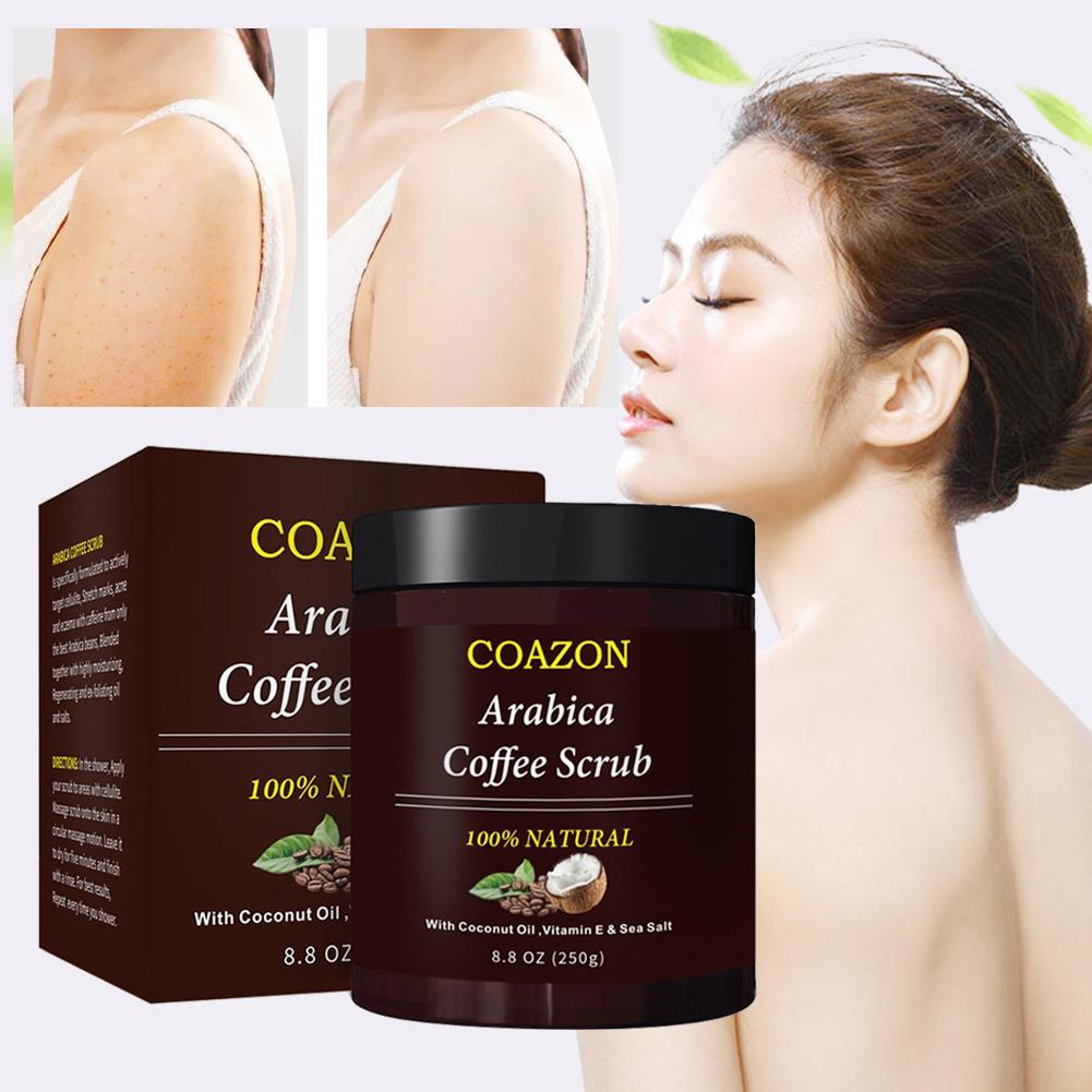 240 Ml Coffee Scrub Body Scrub Cream Facial Dead Sea Salt For Exfoliating Whitening Moisturizing Anti Cellulite Treatment Acne