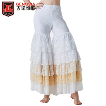 Belly Dance Gypsy Tiered Ruffle Pants Yoga Harem Trousers Flamenco Bollywood Dancing Tribal Pantalon Costume
