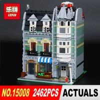 DHL Lepin15008 2462Pcs City Street Green Grocer Model Building Kits Blocks Bricks Compatible Educational Toy 10185