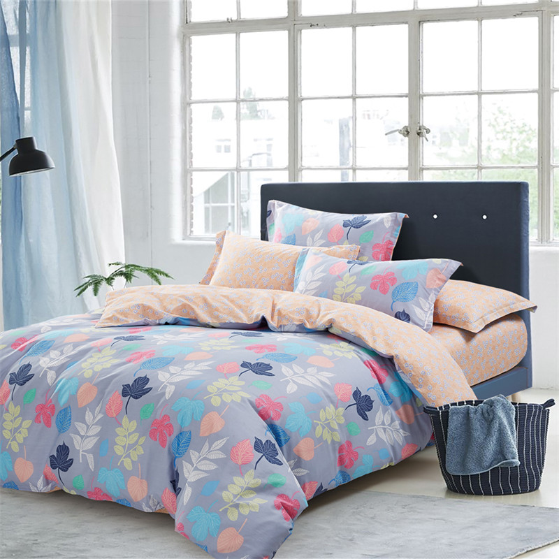 Simple Fashion Color Printing Patterns 4Pcs Cotton Bedding Set Duvet Cover Sets Bed Linen Bedclothes Pillowcase Comfortable SoftSimple Fashion Color Printing Patterns 4Pcs Cotton Bedding Set Duvet Cover Sets Bed Linen Bedclothes Pillowcase Comfortable Soft
