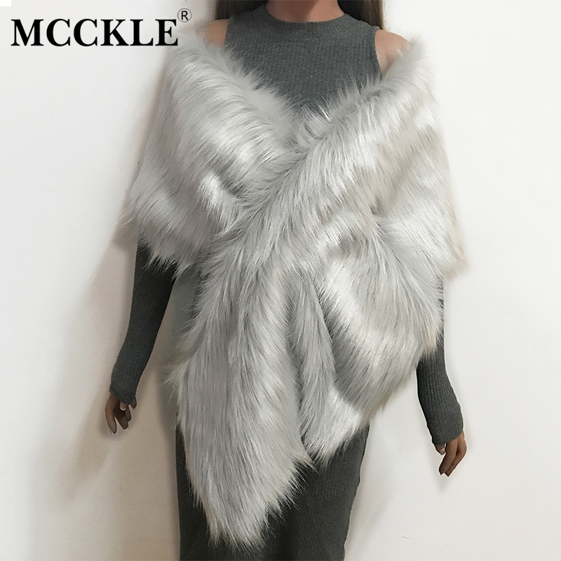 Women's Faux Fur Sleeveless Irregular Shrugs Coat Solid Criss-cross Fluffy Fur Shawl Cape Vest Female 2019 Autumn Party Coats