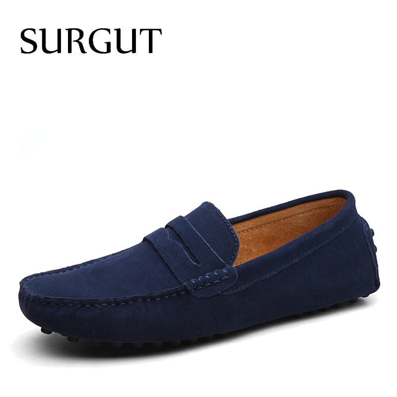 SUGRUT Brand Summer High Quality Soft Flat Shoes Male Casual Driving Sh