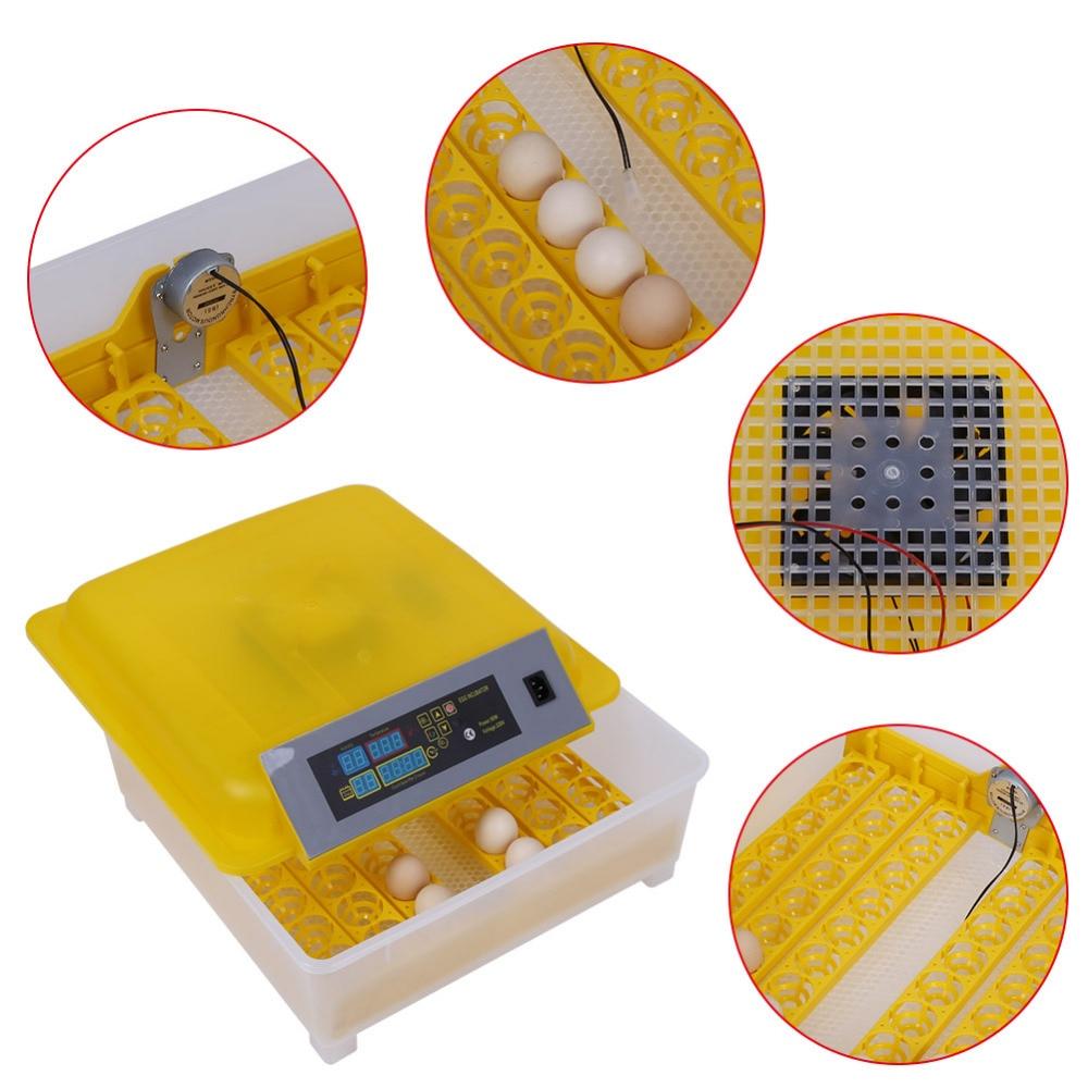 48 Eggs Incubator Automatic Egg Turning Incubator Chicken Egg Incubadora Poultry Hatcher Chicken Bird Plucking Machine