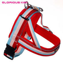 GLORIOUS KEK Large Dog Harness Vest Super Quality Buffer Drawstring Pet Harness for Big Dogs Nylon Protective Walking Harness