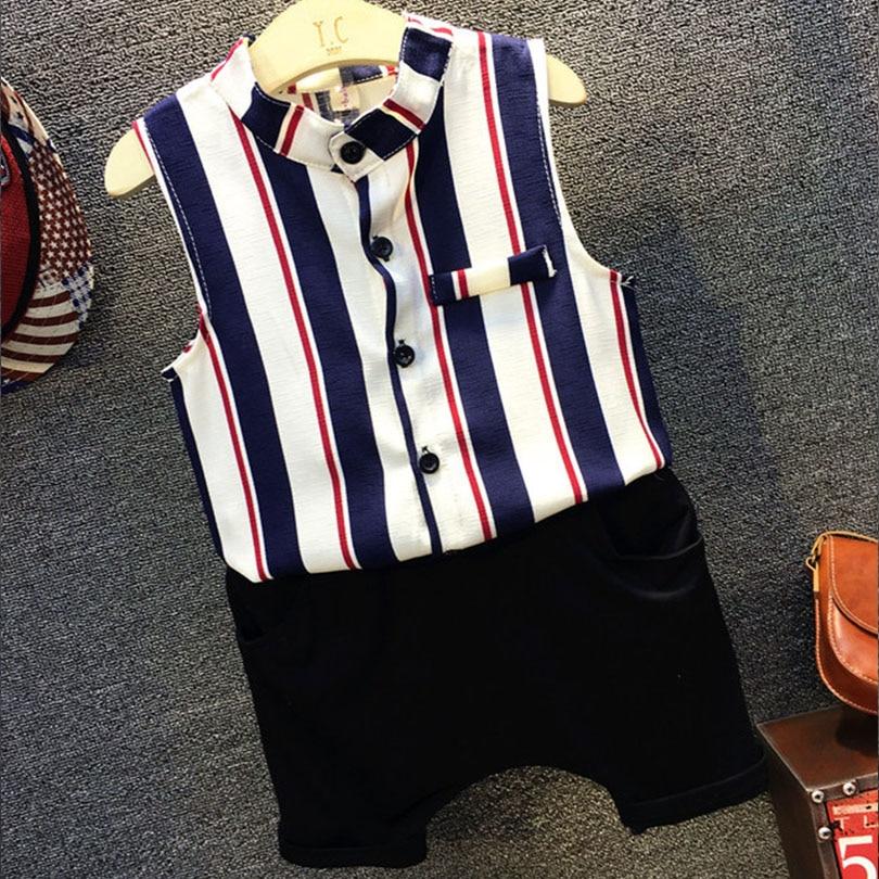 Bosudhsou vasaras bērnu apģērbu komplekts bērnu zīdaiņu - Bērnu apģērbi